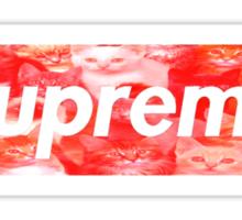 Supreme kitty tee Sticker