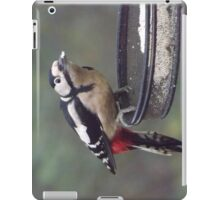 Great Spotted Woodpecker Eating Peanut Cake iPad Case/Skin