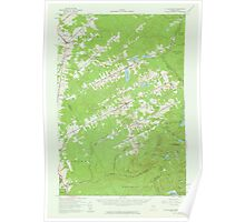 Maine USGS Historical Map Saint Zacharie 306750 1957 62500 Poster