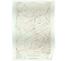 Maine USGS Historical Map Saint Zacharie 306751 1957 62500 Poster