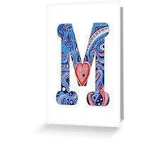M Greeting Card