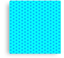 Icy Aqua and Blue Snowflake Pattern Canvas Print