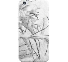 A Wintry Script iPhone Case/Skin