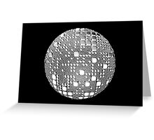 Sphere pulled square lumps Greeting Card