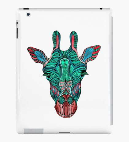 Psychedelic Giraffe - red variant iPad Case/Skin