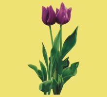 Two Purple Tulips One Piece - Short Sleeve
