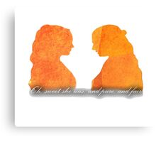 Sansa and Margaery Canvas Print