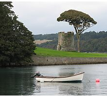 Tower and tree at Portaferry Photographic Print