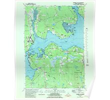 Maine USGS Historical Map Salsbury Cove 807122 1981 24000 Poster