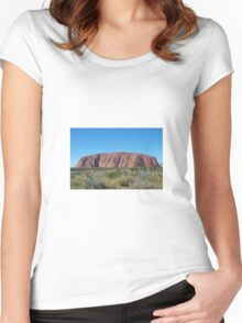 Ayers Rock. Australia. Women's Fitted Scoop T-Shirt