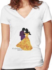 Rumbelle - It's Forever Dearie Women's Fitted V-Neck T-Shirt