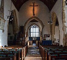 St Winifreds Church Interior, -Branscombe Devon UK by lynn carter