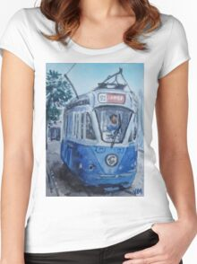 Streetcar,San Francisco Women's Fitted Scoop T-Shirt