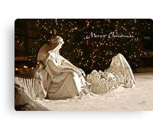 Manger Scene Christmas Card Canvas Print