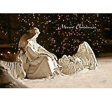 Manger Scene Christmas Card Photographic Print