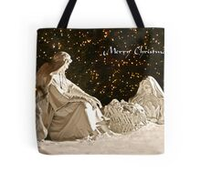 Manger Scene Christmas Card Tote Bag