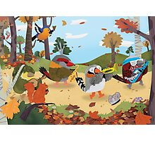 Bird Band Marching Through The Woods Photographic Print