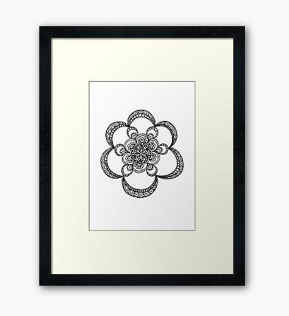 Floral Doodle Framed Print