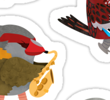 Bird Band Marching Through The Woods Sticker