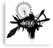 London Skyline In Grunge Style Canvas Print