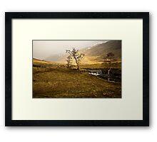 Scottish Highlands Rainbow Framed Print