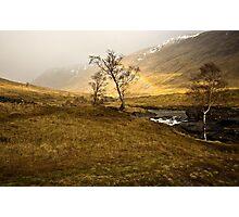 Scottish Highlands Rainbow Photographic Print