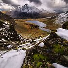 Snowy View of Llyn Idwal by Julian MacDonald