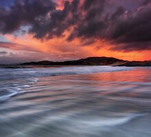 Camusdarach Sunset - Arisaig by Douglas  Latham