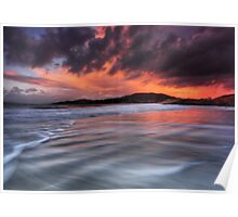 Camusdarach Sunset - Arisaig Poster