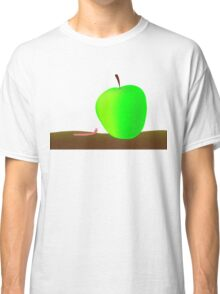 worm and big apple Classic T-Shirt