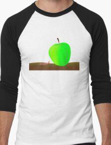 worm and big apple Men's Baseball ¾ T-Shirt