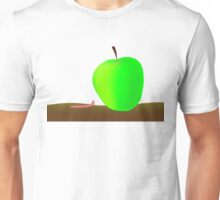 worm and big apple Unisex T-Shirt