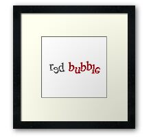 Red Bubble creative logo Framed Print