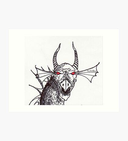 Minery Dragon Art Print