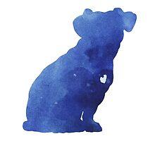 Jack russel terrier watercolor art print painting by Joanna Szmerdt