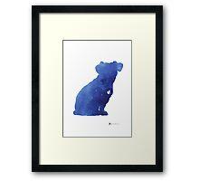Jack russel terrier watercolor art print painting Framed Print