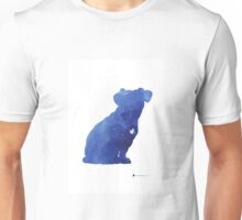 Jack russel terrier watercolor art print painting Unisex T-Shirt