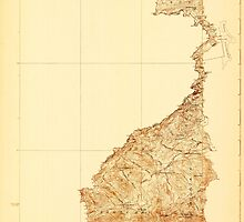 Maine USGS Historical Map Sandy Bay 807661 1927 48000 by wetdryvac
