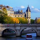 Paris - Le Pont Neuf en automne. by Jean-Luc Rollier