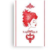 Fille Rouge Canvas Print