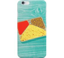 TV dinner to go... in green! iPhone Case/Skin