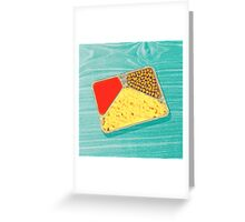 TV dinner to go... in green! Greeting Card