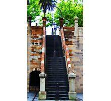 Stairway Lamp Photographic Print