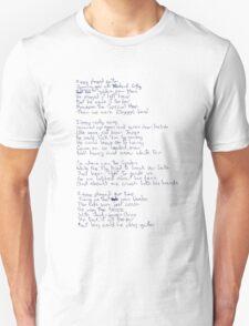 Ziggy Stardust lyrics Unisex T-Shirt