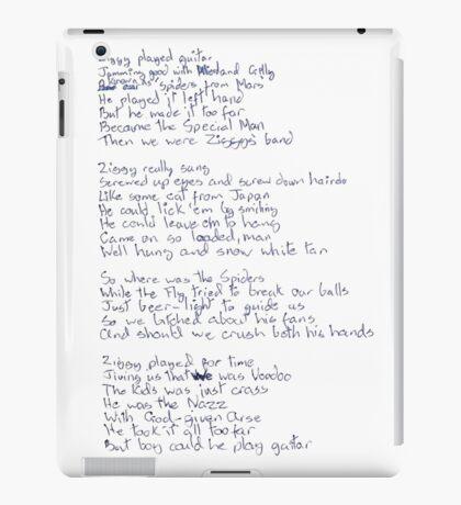 Ziggy Stardust lyrics iPad Case/Skin
