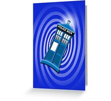 Tardis Tee Greeting Card