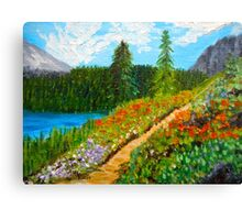 Day Escape, Colorado Mountains, Oil painting, wall art, home decor Canvas Print