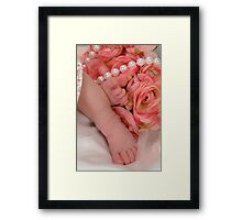 Precious Feet Framed Print