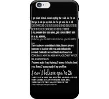 Catfish&the bottlemen lyrics iPhone Case/Skin