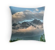 Rocky Mountains - Canmore, Alberta Throw Pillow